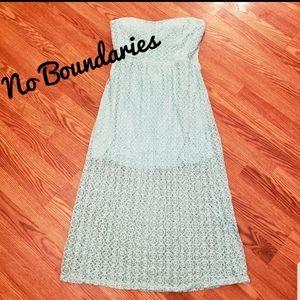 No Boundaries maxi strapless dress